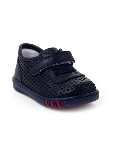 minipicco Minipicco Unısex Lacivert Deri Ortopedik Destekli İlk Adım Ayakkabı Lacivert